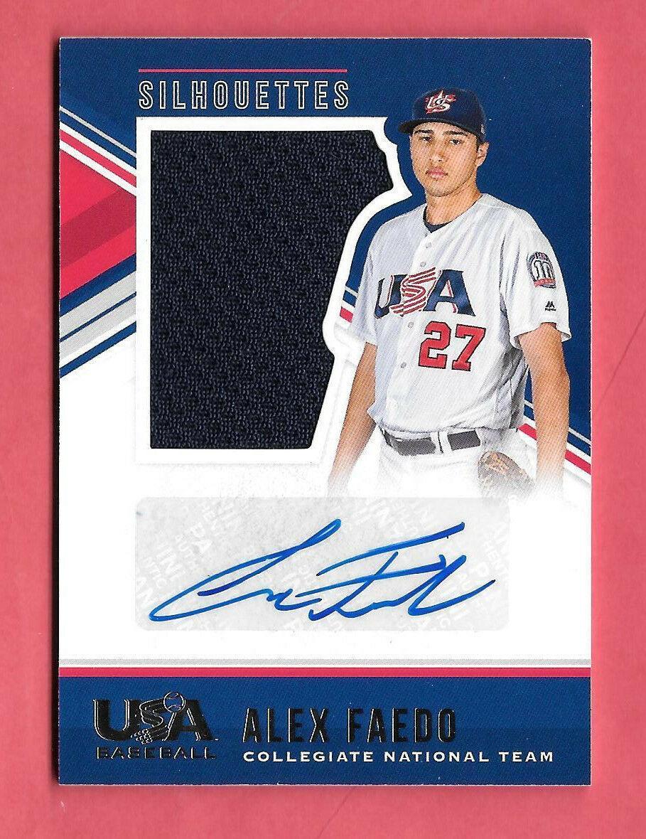 2018 Alex Faedo Panini Stars & Stripes Rookie Auto Jersey 136/199 - Tigers