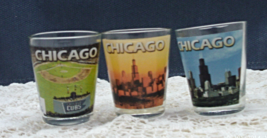 Vintage set Of 3 CHICAGO Souvenir Shot Glasses // Vintage Barware - $10.00