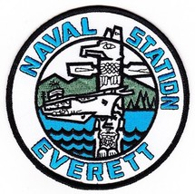 US Navy Naval Station Everett, Washington State Patch - $11.87