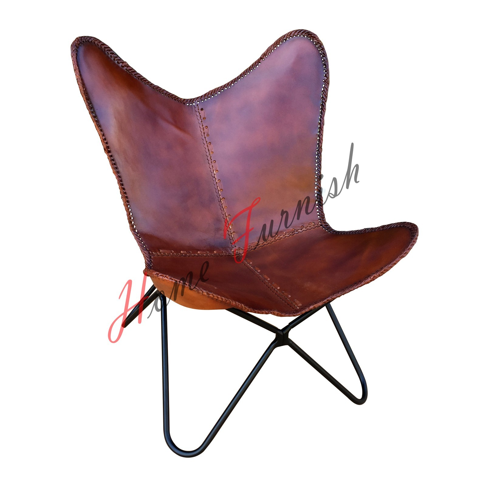 Butterfly Chair BKF Genuine Leather Chairs Butterfly Handmade Leather Chair AA  - $220.00