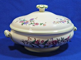 Devon Sprays Green by Wedgwood ROUND COVERED VEGETABLE CASSEROLE BOWL G75 - $159.99