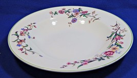 "Devon Sprays Green by Wedgwood 9"" LG RIM SOUP BOWL flowers long stems G75 - $49.99"