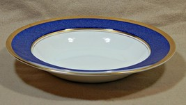 "Athlone Blue Coalport England 8 1/8"" RIMMED SOUP BOWL blue rim 22K gold ... - $119.99"