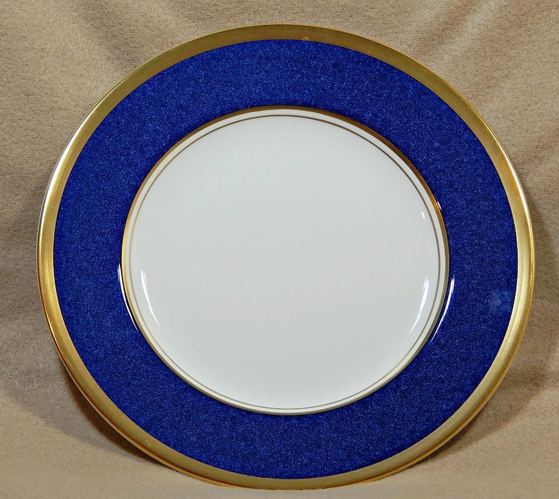 Athlone Blue Coalport England SALAD DESSERT PLATE blue rim 22K gold trim G74