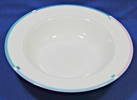 "Jet Set By Mikasa L5543 10"" Round Vegetable Serving Bowl Pink Blue S616359 - $39.99"
