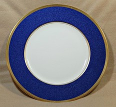 Athlone Blue Coalport England DINNER PLATE blue rim 22K gold trim G74 - $129.99