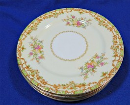 Nanarosa By Noritake 682 Lot Of 5 Bread Butter  Plates Green Tan Floral G55 - $49.99