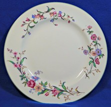 Devon Sprays Green by Wedgwood DINNER PLATE flowers long stems G75 - $59.99