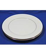 Buckingham by Noritake LOT of 2 DINNER PLATES 6438 white flower platinum... - $46.99