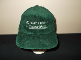 VTG-1980s Viking Electric Thomas Betts corduroy snapback retro hat sku27 - $27.83