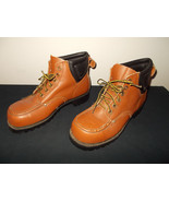 VTG-MADE USA Lehigh Steel Toe Safety Work Leather Boots Men 9.5D sku9 - $74.44
