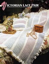 Victorian Lace Pair, Annie's Crochet Afghan Pillow Pattern Leaflet QAC34... - $6.95