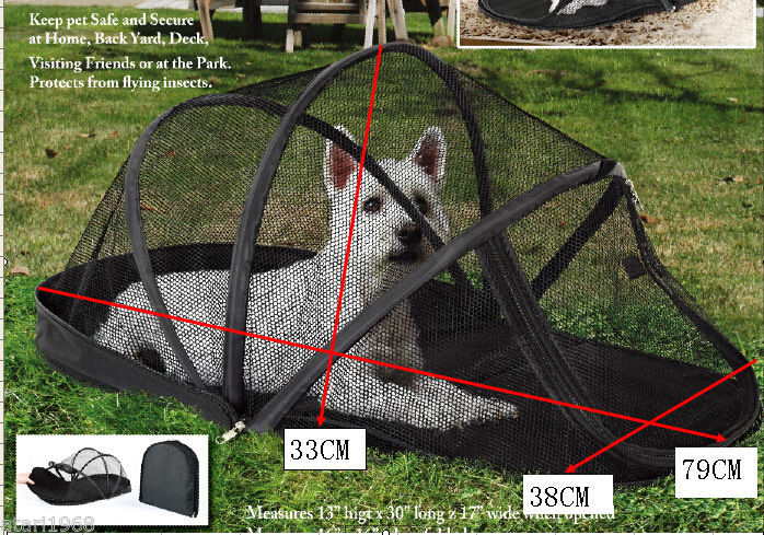 Portable Dog Cat Pet Dome Collapsible Shading Tent Outdoor Foldable Pet House