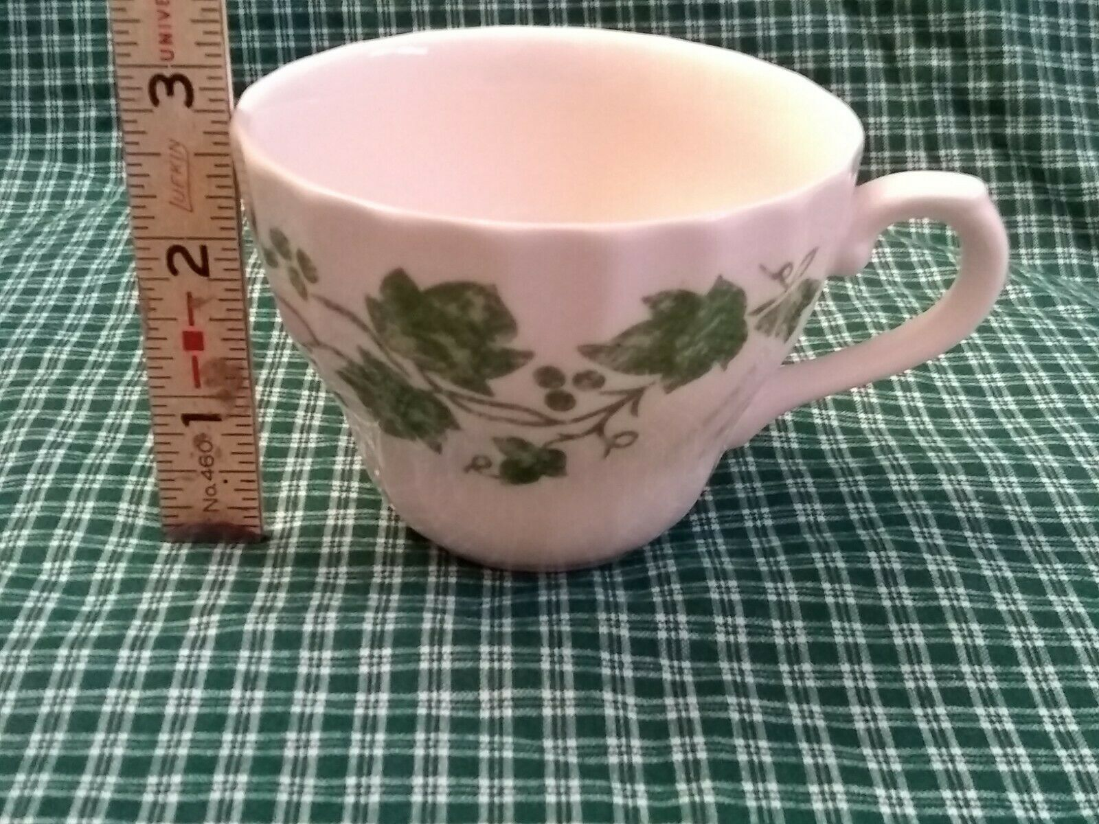 Churchill China Teacup Verdigris Ivy Leaf Pattern