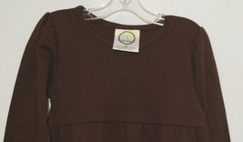 Blanks Boutique Brown Long Sleeve Empire Waist Ruffle Dress Size 2T image 2