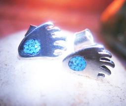 Haunted EARRINGS FREEBIE ANIMAL CIRCLE NATURE MAGICK BEAR PAW WITCH Cassia4  - Freebie