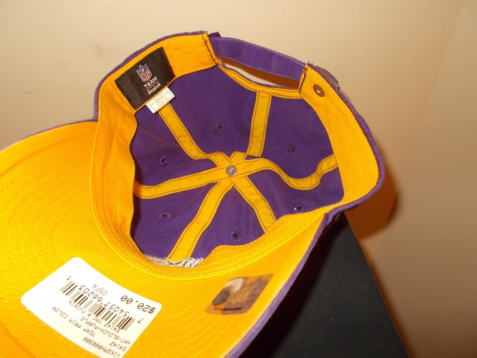 00976612226 Minnesota Vikings NFL Team Reebok strapback and 50 similar items