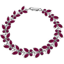 14K. SOLID GOLD BUTTERFLY BRACELET WITH NATURAL RUBIES - $783.00+