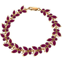 14K. SOLID R GOLD BUTTERFLY BRACELET WITH NATURAL RUBIES - $783.00+