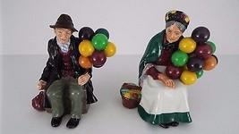 Royal Doulton The Balloon Man HN 1954 & The Old Balloon Seller HN 1315 R... - $539.99