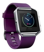 NEW Fitbit Blaze Smart Fitness Watch Fit Bit Smartwatch Plum/Silver Small - $272.24