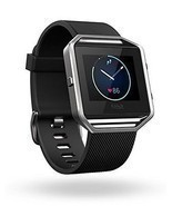 NEW Fitbit Blaze Smart Fitness Watch Fit Bit Smartwatch Black/Silver Small - ₨17,540.87 INR