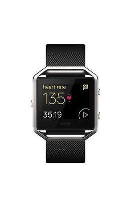 NEW Fitbit Blaze Smart Fitness Watch Fit Bit Smartwatch Black/Silver Small