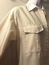 Vtg DIANE VON FURSTENBERG Striped Button Down Shirt DVF White Tan Blouse Top 14 image 4