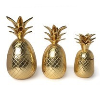 Two's Company Warm Welcome Set of 3 Golden Pine... - $174.00