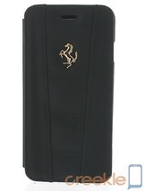 Ferrari 458 Black Genuine Leather Booktype Case w/ Gold Emblem for iPhon... - €62,21 EUR