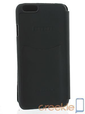 Ferrari 458 Black Genuine Leather Booktype Case w/ Gold Emblem for iPhone 6 Plus