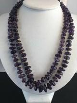 "Vintage Amethyst Chunk Necklaces 2 19"" 20"" Spacers Graduated Gemstone Beads - $48.30"