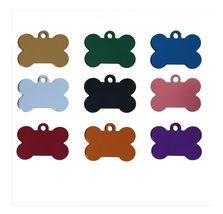 10 Bulk Wholesale Blank Bone Shape Pet ID tags.... - $8.79
