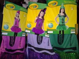 crayola  crayon glitz and glitter childs dress costumes new - $29.00