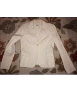 ZARA Woman Cream 100% Cotton Pique Single Butto... - $22.99