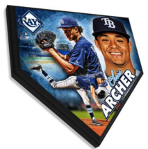 """Chris Archer Tampa Bay Rays 11.5"""" x 11.5"""" Home Plate Plaque  - $40.95"""