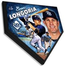 "Evan Longoria Tampa Bay Rays 11.5"" x 11.5"" Home Plate Plaque  - $40.95"