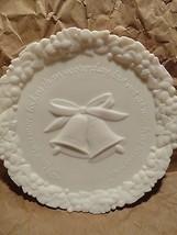 FENTON WEDDING ANNIVERSARY PLATE white vintage... - $9.48