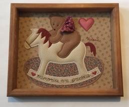 Valerie's Folk Art Appliqué Teddy Bear Rocking ... - $49.49