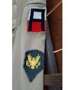 Vintage US Army Shirt-Long Sleeve-3 Patches-Tan-Korean War Era-Button Up... - $55.85