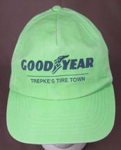 VTG Goodyear Tires Hat, Trepke-Green-Trucker Hipster Automotive, Logo-Snap - $15.79