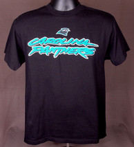 NFL Carolina Panthers-Black T Shirt-M-100% Cotton-Football Cam Newton NFC Champ - $28.04