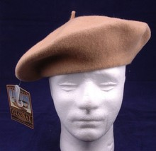 Dpc Global Trends Beret Tan/Brown One Size Blue 100% Wool - $13.09