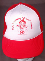 Multiple Sclerosis Hat-Ugly is Brewing-Mesh-Trucker-Red-Rope Bill-Vintag... - $18.13