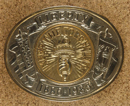 """Keep The Torch Lit"" Belt Buckle-Patriotic-Vintage -1886-1986-Statue of ... - $13.99"