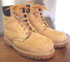 BASS Steel Toe Boots-M 7.5-Tan Leather-Insulated-Oil Resistant-Work Boots-Gravel - $71.05