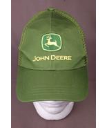 John Deere Trucker Hat-Mesh Back Farm Hipster Green/Yellow Deer Embroide... - $8.14