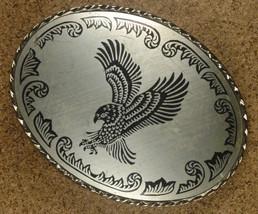 VTG Southwest Eagle Bird Native American Detailed Belt Buckle-Silver Ton... - $16.69