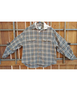 Palmer Clothing Co. Flannel Shirt-L-Brownish Plaid-Nice Buttons - $23.16