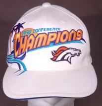 Denver Broncos 1998 Confrence Camps Hat-Miami Bound-Velcro-White-NFL-VTG - $31.64